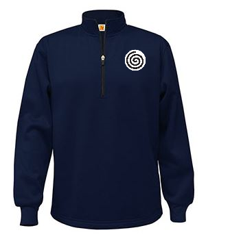 A+ Quarter-Zip Performance Fleece Pullover Navy with Required Logo