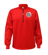 A+ Quarter-Zip Performance Fleece Pullover Red with Required Logo