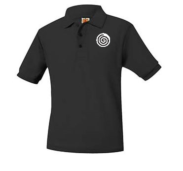 A+ Polo Pique Band Short Sleeve Unisex BLACK NO LOGO