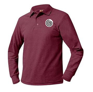 PO A+ Wine Unisex Polo Pique Long Sleeve with LOGO