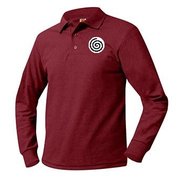 PO A+ Red Unisex Polo Pique Long Sleeve  with LOGO