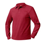 PO A+ Red Unisex Polo Pique Long Sleeve