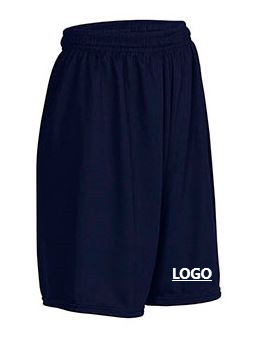 "A+ Navy Mesh Short with Logo 6212 • A+ Fabrics: 100% opaque polyester • A+ engineered closed-hole mesh • Moisture wicking • Snag resistant • Quick-cord waistband • Inseam: 5 1/4""-7"" on youth sizes, 7 1/2"" on adult sizes"