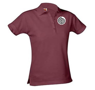 A+ Female WINE Short Sleeve Pique Polo with Logo