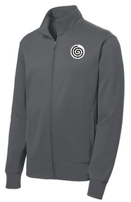 Sport Tek Fleece Full Zip Jacket w/Logo  Grey