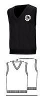 Classroom BlackUnisex V-Neck Pullover Vest with Required Logo