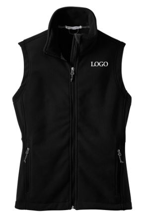 PORT AUTHORITY VEST WITH REQUIRED LOGO BLACK