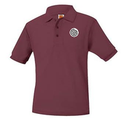 Unisex Wine Short Sleeve Polo with Logo