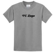 Youth and Adult Unisex P.E. Tee Shirt Grey