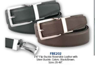 "EeDeeTrim 1"" Leather Belt Brown"
