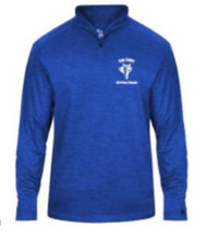 Royal Blue Tonal Blend Embroidered Logo Left Chest in Gray and White