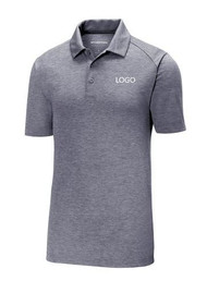 Sport-Tek ® PosiCharge ® Tri-Blend Wicking Polo in True Navy Heather