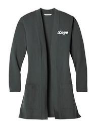 Ladies Concept Long Pocket Cardigan Grey Smoke