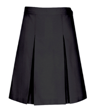 SK Classroom Kick Pleat Skirt Black