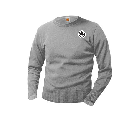Classic Crew Neck GREY  Long Sleeve Pullover We've gone to great lengths to find Wear-Tested™ yarns that are incredibly soft yet durable enough to resist pilling. A+ sweaters feature reinforced stress areas and ribbed trim at the waist and cuffs for shape retention. Simply machine wash and layer with an A+ shirt and you're ready to go.
