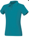 Girls cap sleeve polo in interlock knit with 3 button placket (right over left) has softly fitted body . 60% cotton / 40% polyester interlock knit. Imported.