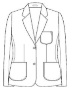 BZ Female Cut Navy Blazer