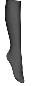 SO Classroom Female Cable Knit Knee-High Socks (3pk) Grey (optional item)