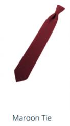 TIE Maroon Tie - Choose 4-in-Hand, Pre-tied or Bow