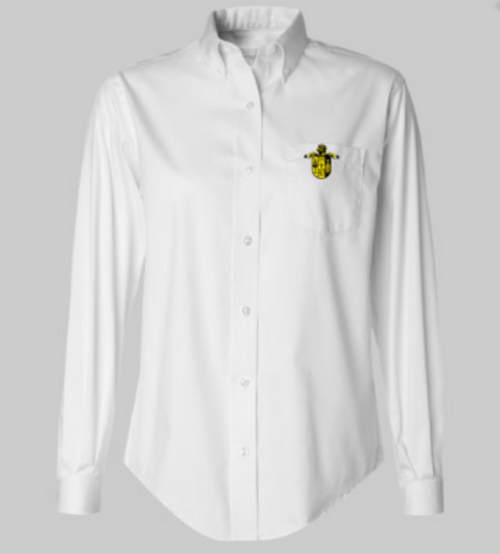 3.7 oz., 85/15 cotton/polyester oxford (White is 60/40 cotton/polyester)     Button-down fused collar     Single-needle stitched armholes     Double-needle stitched felled side seams     Two pearlized buttons on adjustable cuffs     Button-through sleeve placket     Left chest pocket     No back pleat     Wrinkle-free