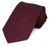 Solid Maroon Tie Available in Bow Tie or Pre-Tied Neck Tie