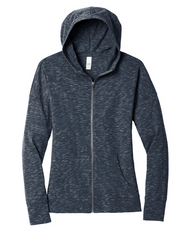 Strengthen your style impact with this lightweight hoodie made for ease and versatility. 4.9-ounce, 90/10 combed ring spun cotton/poly, 30 singles Tear-away label Self-fabric back neck tape YKK Metaluxe ® zipper Front pockets Self-fabric cuffs and hems