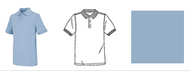 Unisex short sleeve unisex polo in a combed cotton, ringspun interlock knit with a 3 button placket and matching ribbed collar and cuffs, reinforced shoulder seams and double-needle hem. Colorfast, easy care 60% Cotton/40% Polyester. Imported.