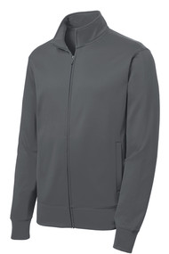 A classic jacket style created from our moisture-wicking, anti-static Sport-Wick fleece. Can pair with Sport-Wick Fleece Pants for a complete, unified look.  100% polyester Tag-free label Cadet collar Taped neck Slash pockets Self-fabric cuffs and hem
