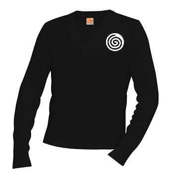 A+ V-Neck Pullover 6500 BLACK with Logo