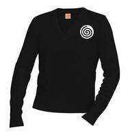 A+ V-Neck Pullover 6500 BLACK with Logo