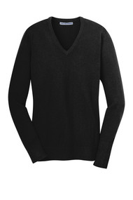 A beautiful and versatile addition to any wardrobe, our fine-gauge v-neck sweater has fully-fashioned sleeves for strength, comfort and longer wear.      60/40 cotton/nylon     Rib knit v-neck, cuffs and hem     Stylish longer rib knit height at cuffs