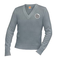 SW A+ V-Neck Pullover 6500 GRAY w/Logo $5 of your purchase will go to St. John's Cathedral
