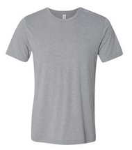 Gray Short Sleeve 3.8 oz., 50/25/25 polyester/airlume combed and ringspun cotton/rayon, 40 singles Triblend is 70/15/15 airlume combed and ringspun cotton/polyester/rayon Side seams Tear-away label