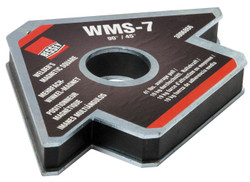 Bessey WMS-7 - Magnet, magnetic square, arrow shape, 90/45 degrees, 41 lbs pull