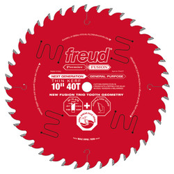 "Freud -  10"" Thin Kerf Next Generation Premier Fusion General Purpose Blade - P410T"