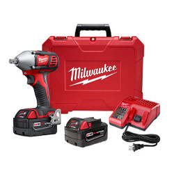 "Milwaukee 2659-22 - M18™ 1/2"" Impact Wrench Kit with Pin Detent"