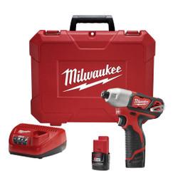"Milwaukee 2462-22 - M12™ ¼""  Hex Impact Driver Kit"