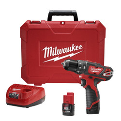 "Milwaukee 2408-22 - M12™ 3/8"" Hammer Drill/Driver Kit"