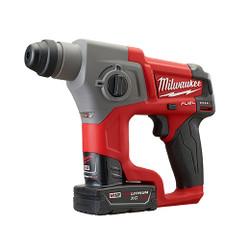 "Milwaukee 2416-22XC - M12 FUEL™ 5/8"" SDS Plus Rotary Hammer Kit"