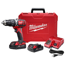 "Milwaukee 2607-22CT - M18™ Compact 1/2"" Hammer Drill/Driver Kit"