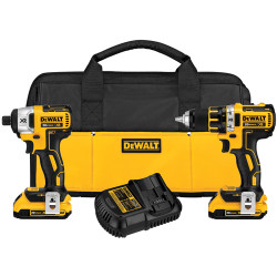 DeWALT -  20V MAX* XR™  Lithium Ion Brushless Compact Drill / Driver & Impact Driver Combo Kit - DCK281D2