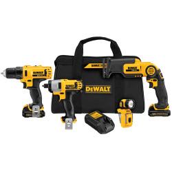 DeWALT -  12V MAX* Li-Ion 4-Tool Combo Kit - DCK413S2