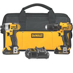 DeWALT -  20V MAX* Lithium Ion Compact Drill/Driver / Impact Driver Combo Kit (1.5 Ah) - DCK280C2
