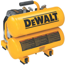 DeWALT -  2 HP Elec, 4 gal, Hand Carry, Twin tanks, 14 Amps - D55151