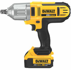 "DeWALT -  20V MAX Li-Ion 1/2"" HT Impact Wrench (Detent Pin) (4.0Ah) w/ 2 Batteries and Bag - DCF889M2"
