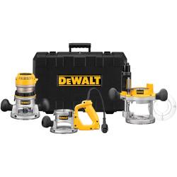 DeWALT -  2 1/4 Maximum Motor HP Electronic VS Three Base Router Kit - DW618B3