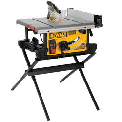 "DeWALT -  10"" Table Saw (28-1/2"" Rip Capacity) with Stand - DWE7490X"
