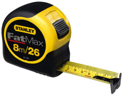 Stanley -  8m/26-Feet by 1-1/4-Inch FatMax Metric/Fractional Tape Rule - 33-726