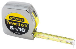 Stanley -  5m/16 x 3/4-Inch PowerLock Tape Rule - 33-158