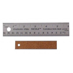 "Samona/ROK -  Stainless Steel Ruler with Cork Back 12"" / 300 mm - 28312"